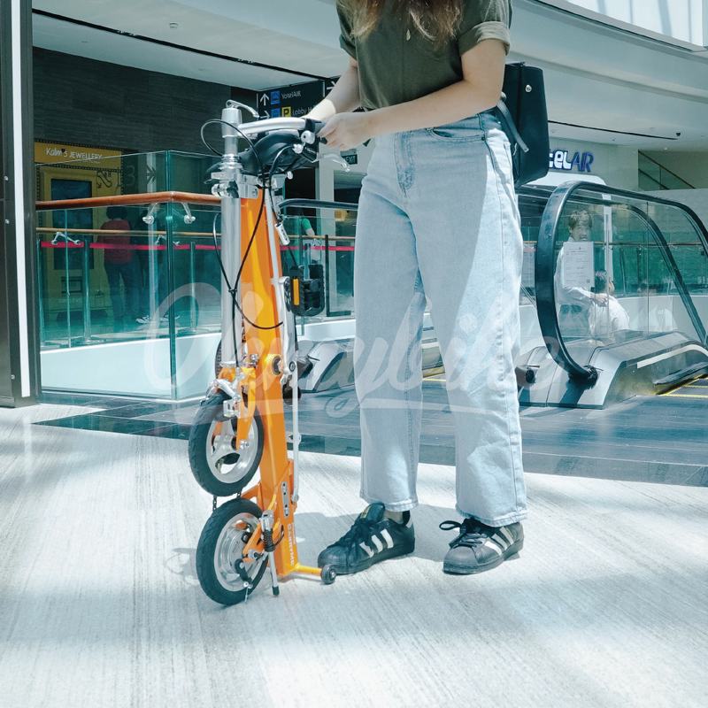 CarryMe Travel Folding Bike (Amber Orange) - OHMYBIKE