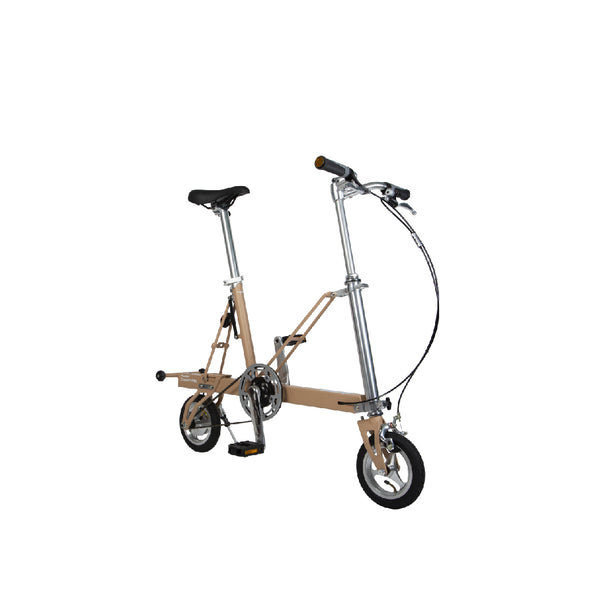 CarryMe Compact Foldable Bike in Khaki Brown - Mighty Velo