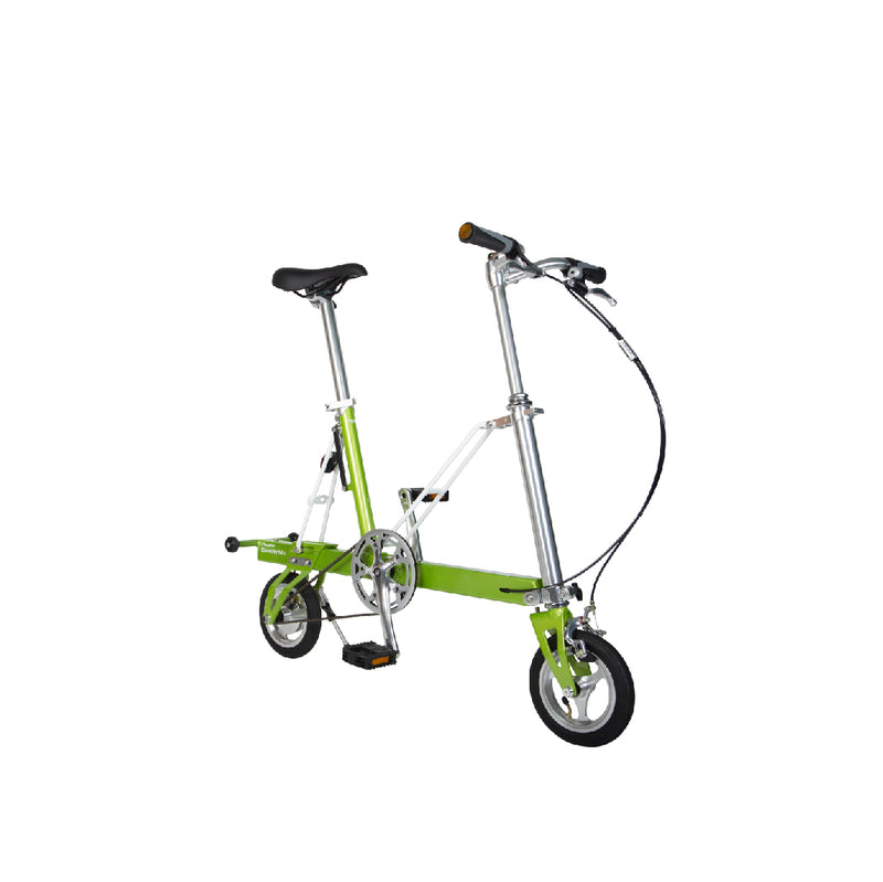 CarryMe Compact Foldable Bike in Lime Green - OHMYBIKE
