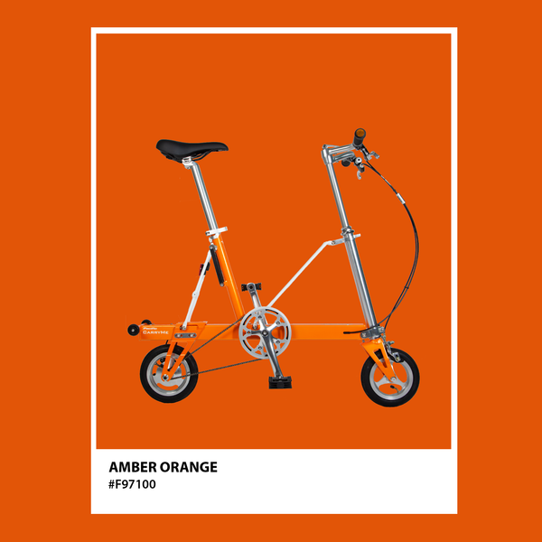 CarryMe Compact Foldable Bike in Amber Orange - Mighty Velo
