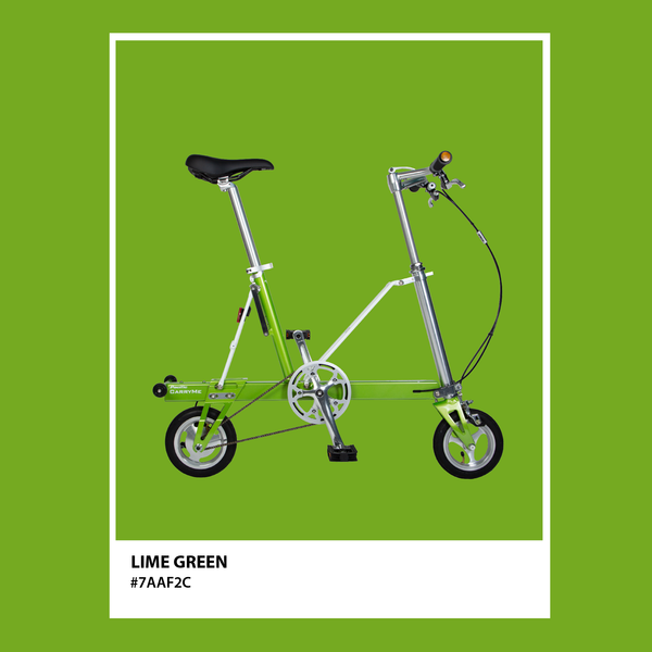CarryMe Compact Foldable Bike in Lime Green - Mighty Velo