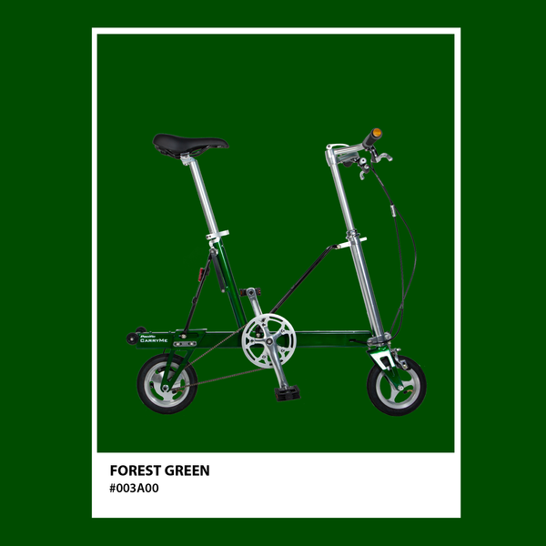 CarryMe Compact Foldable Bike in Forest Green - Mighty Velo