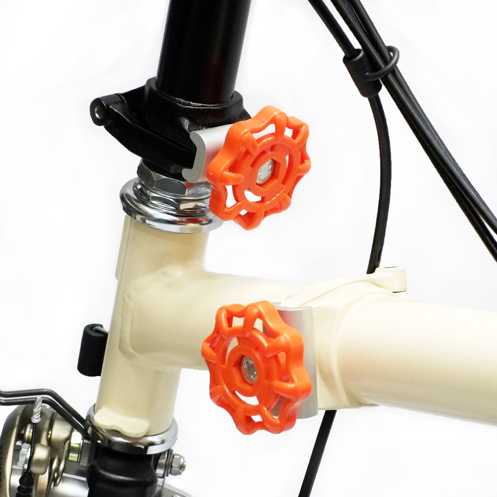 Brompton hinge clamp, MV knob comes in a variety of colours