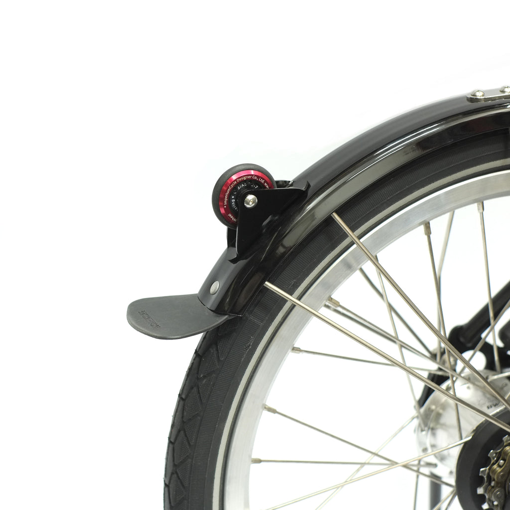 Brompton Mudguard Wheel by Imperium Cycle, it comes in a variety of colours for you to choose from.