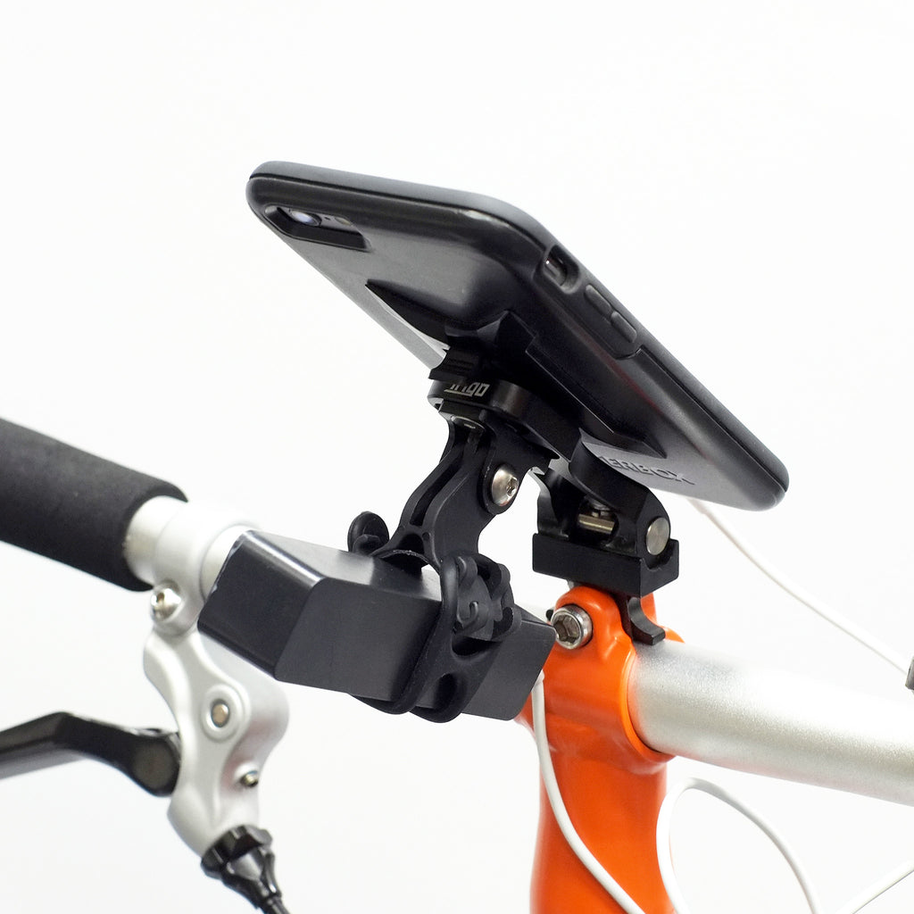 Trigo Add-on accessories: Light Mount on Brompton Edition (while charging from portable charger)