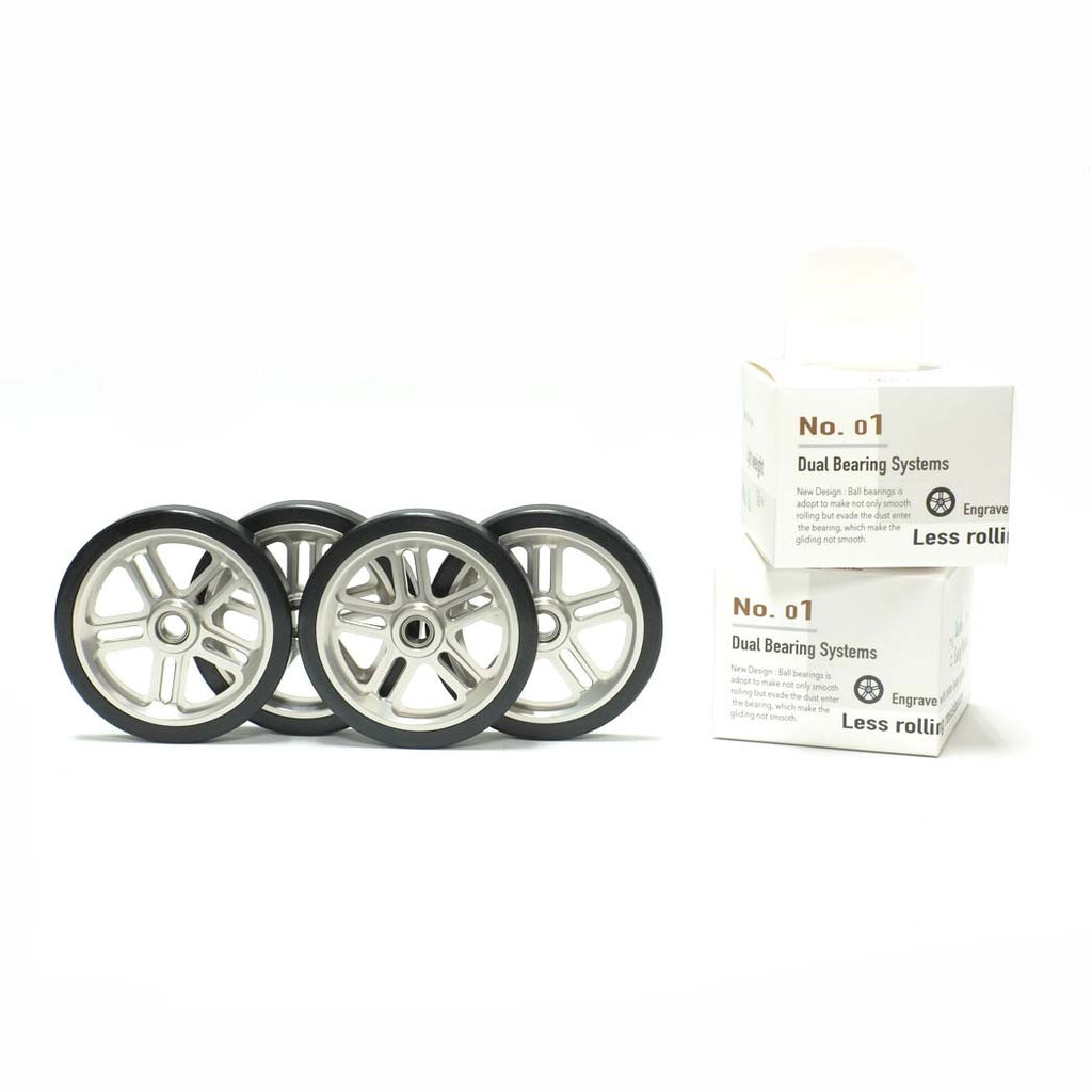 CNC Dual Bearing Eazy Wheels (Four) for Brompton R model (Imperium Cycle)