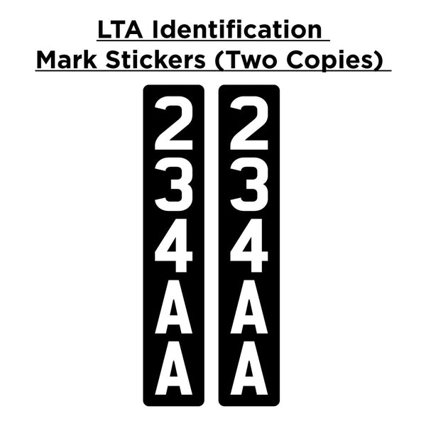 LTA ID Mark Sticker (E-Scooter Registration): Two Copies - OHMYBIKE