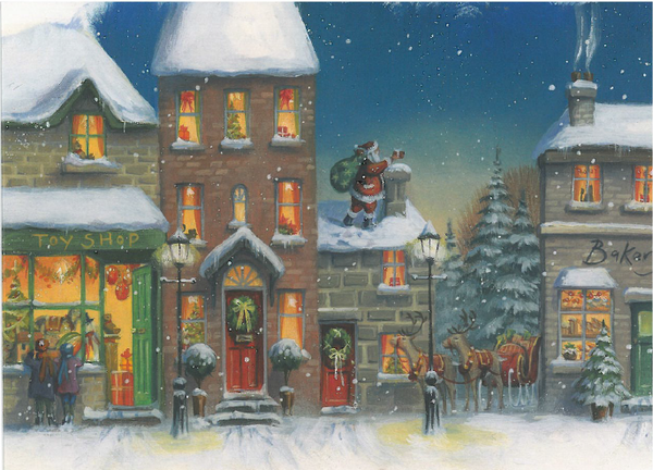 Christmas Card - Snowy Roofs