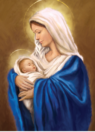 Christmas Card - Mary and Jesus