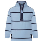 Striped 1/4 Zip Sweatshirt