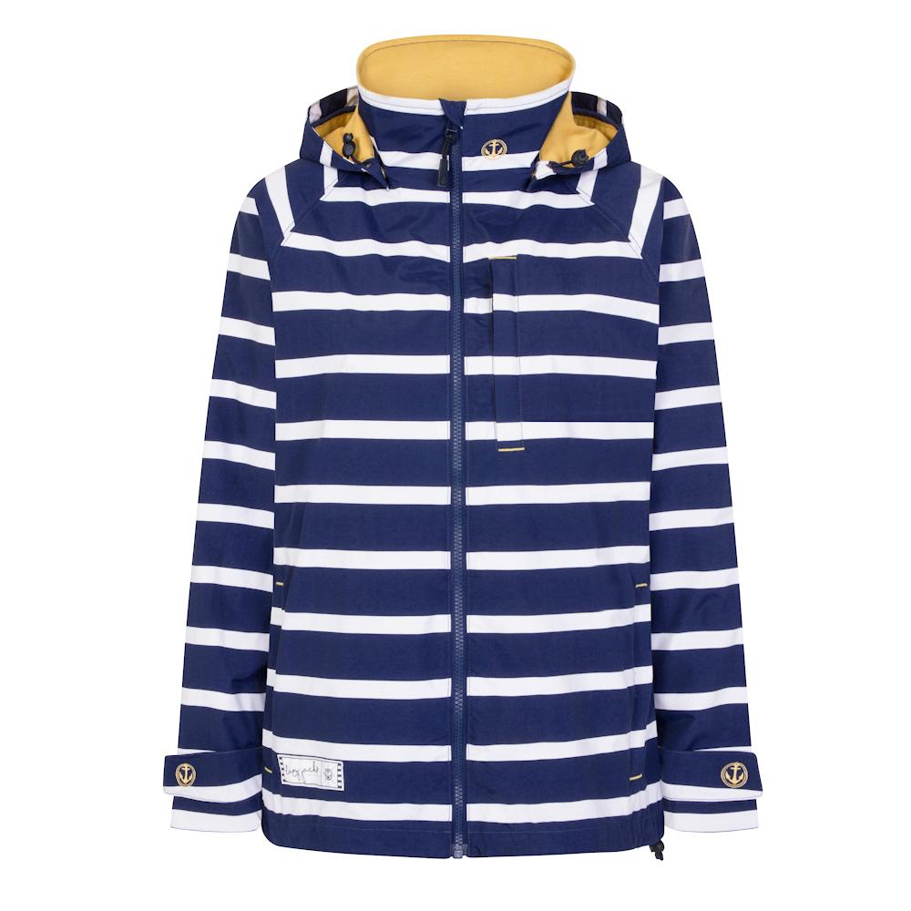 Striped Waterproof Coat