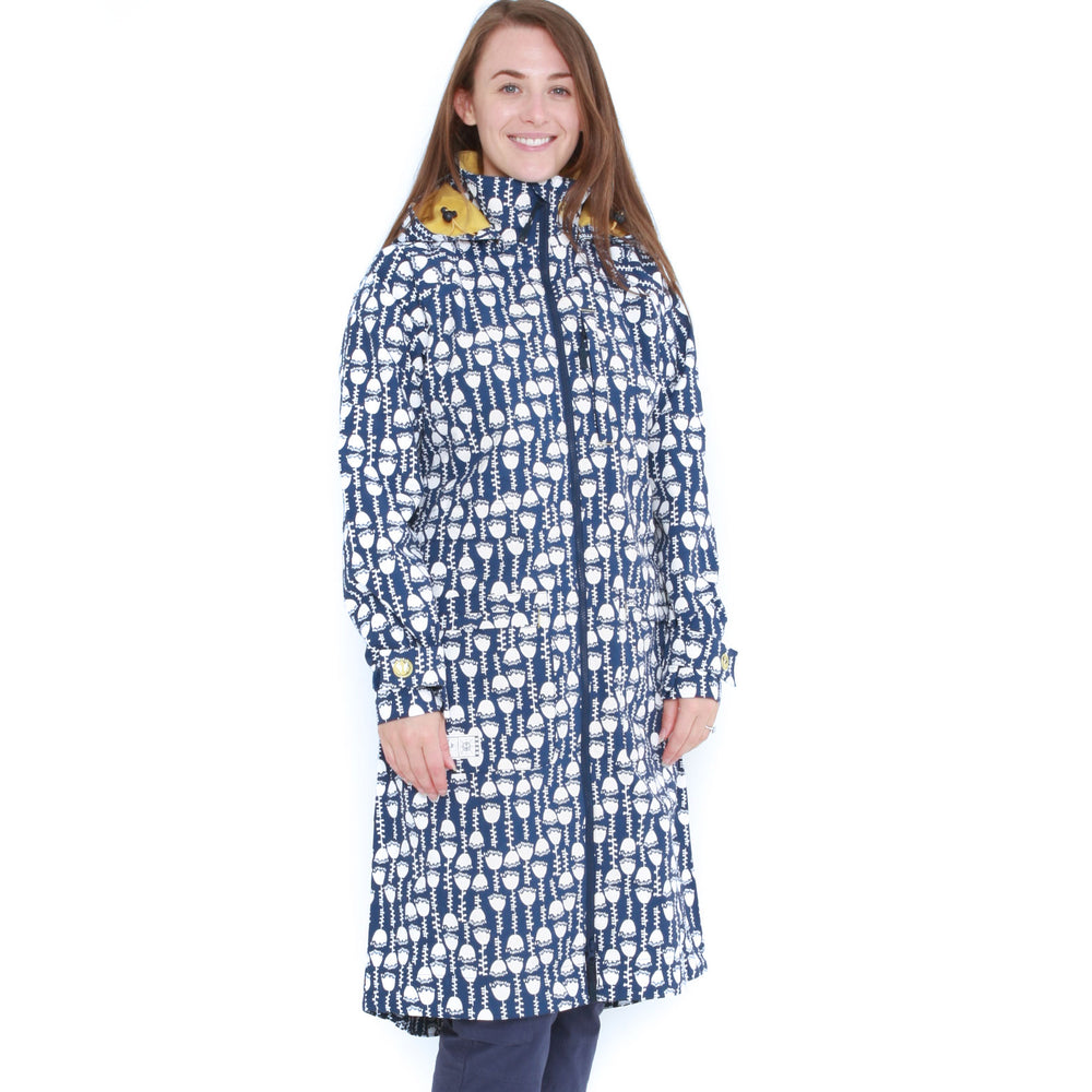 Printed Long Waterproof Coat