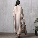 Casual loose Long Sleeve Autumn Round Neck Plus Size Dress - BUYINDRESS