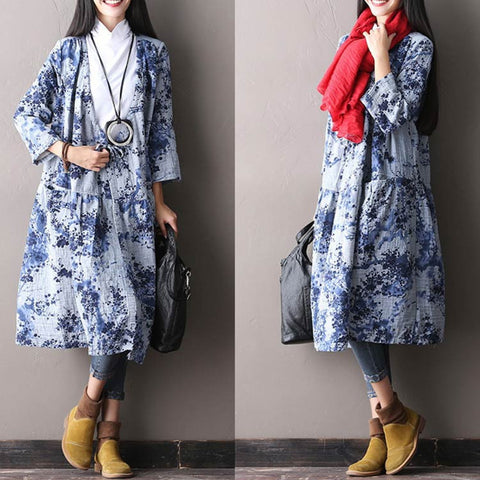 Women's Autumn Loose V Neck Coat
