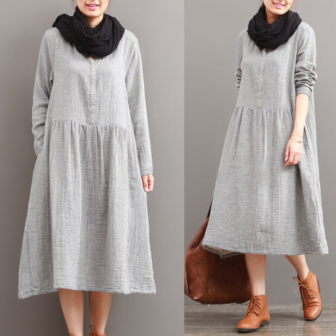 Casual Loose Autumn Long Sleeve Dress - BUYINDRESS