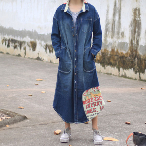 Autumn New Female Long Sleeve Denim Shirt - BUYINDRESS