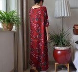 Print Long Cotton  Dress