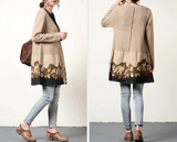 Women Cotton Knitted Casual Loose Large Size Sweater