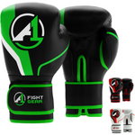 Black/Green A1 Boxing Gloves - A1 Fight Gear