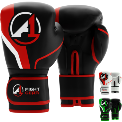 Black/Red A1 Boxing Gloves - A1 Fight Gear