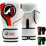 White/Red A1 Boxing Gloves - A1 Fight Gear
