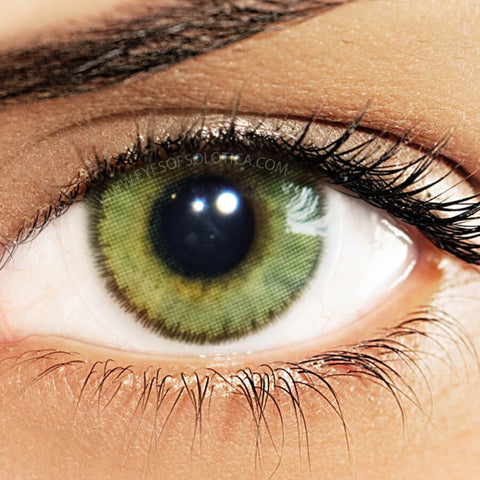Eyes Of Solotica Natural Colours Amber Coloured Contact Lenses