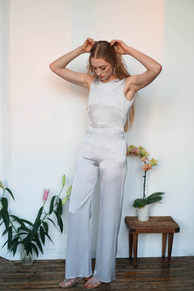 Wholesale Zoe Jumpsuit | Silver