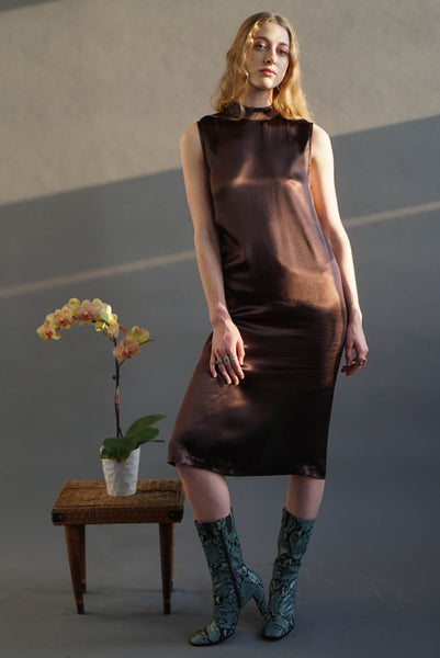 Wholesale Lily Dress | Brown