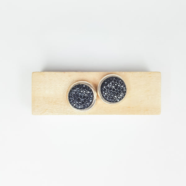 Black Glitter (2s) Magnetic Brooch