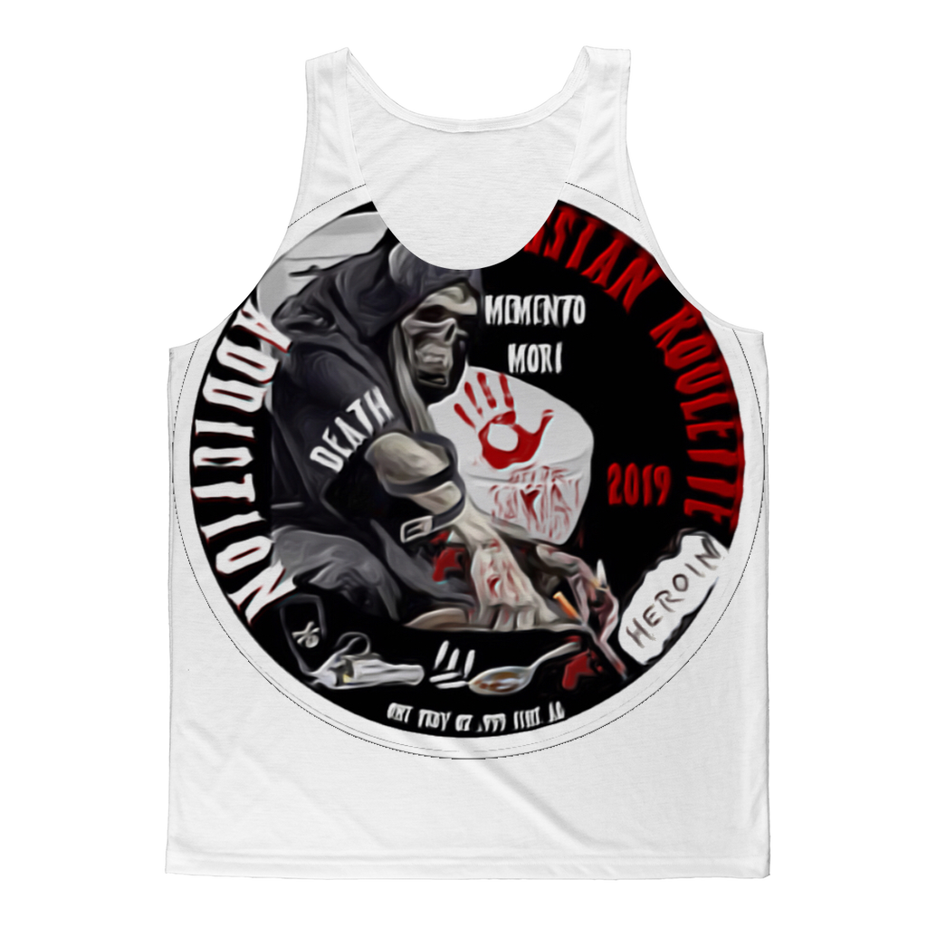 ADDICTION RUSSIAN ROULETTE Classic Sublimation Adult Tank Top