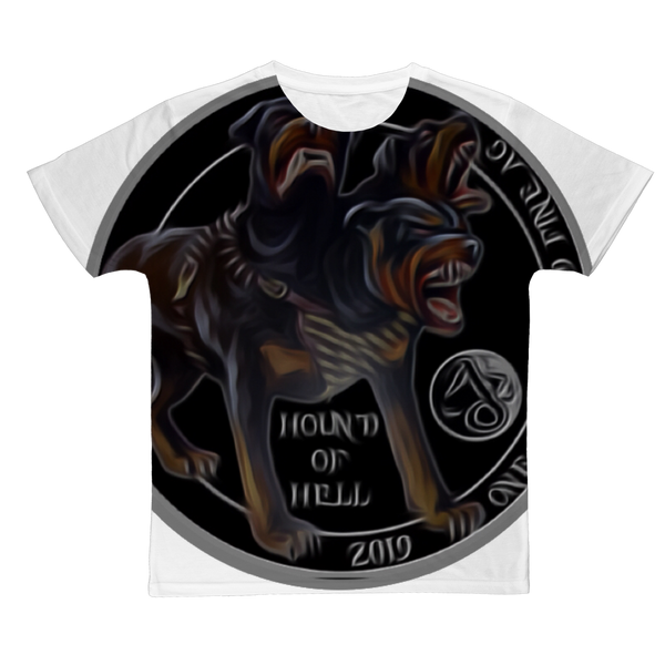 DEVIL DOG HOUND FROM HELL Classic Sublimation Adult T-Shirt