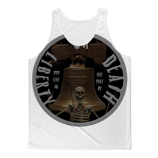 LIBERTY OR DEATH Classic Sublimation Adult Tank Top