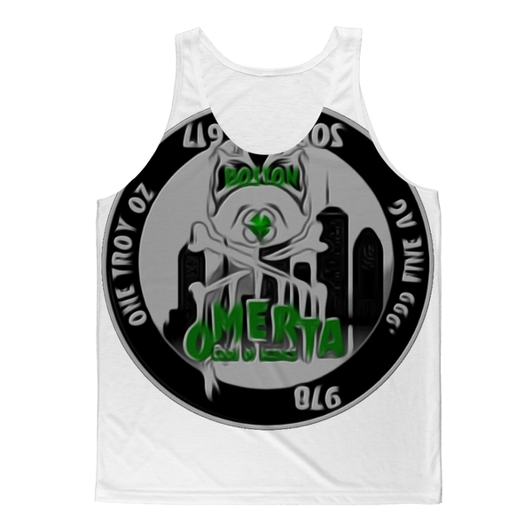 """CODE OF SILENCE "" ( OMERTÀ) BOSTON, MA Classic Sublimation Adult Tank Top"