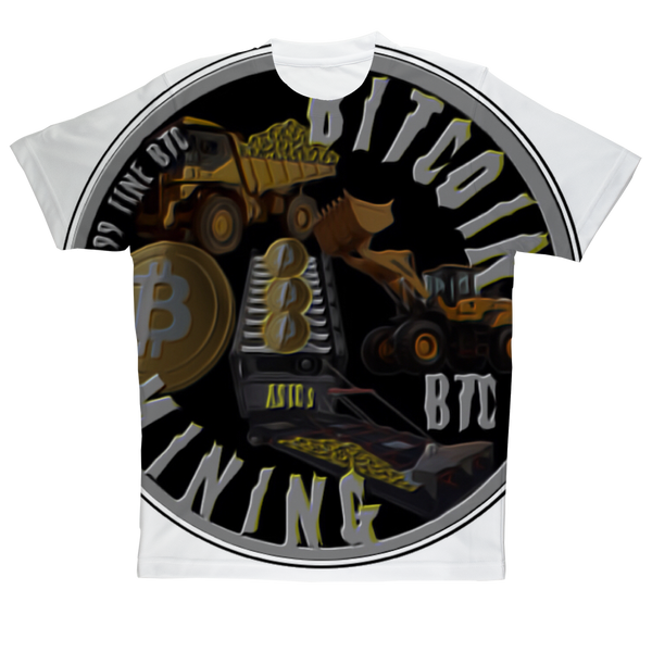 BITCOIN MINING Sublimation Performance Adult T-Shirt
