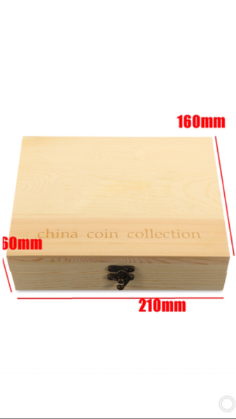 50 COIN CAPSULES / UP TO (51) DIAMETER W/RINGS & WOODEN COIN COIN  BOX