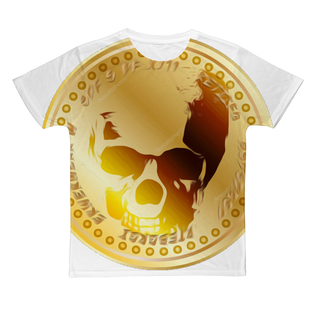 GOLDEN SKULL COIN Classic Sublimation Adult T-Shirt