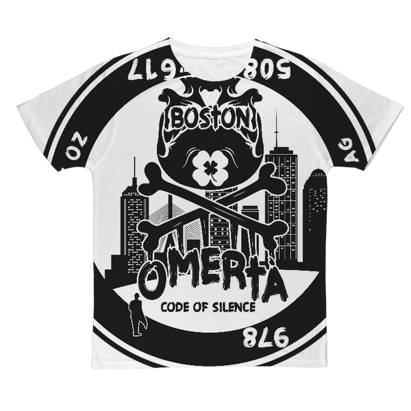 OMERTÀ ( BLACK/WHITE) Classic Sublimation Adult T-Shirt