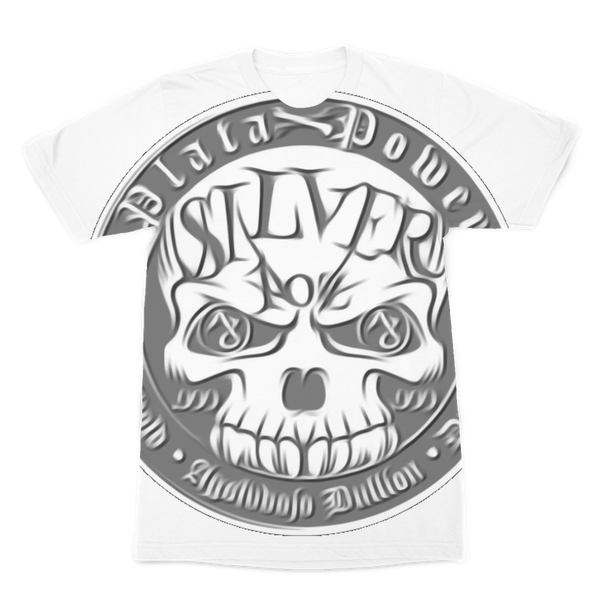SILVER SKULL Premium Sublimation Adult T-Shirt