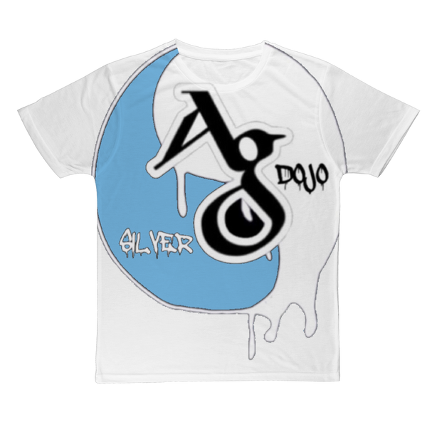 TRADEMARK/LOGO MELTING (BABY BLUE) Classic Sublimation Adult T-Shirt