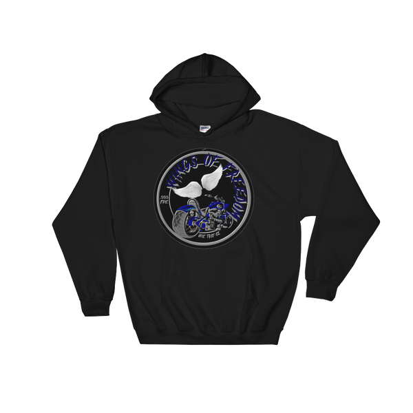 AGSD SILVER COIN STREETWEAR APPAREL WINGS OF FREEDOM (BLUE)