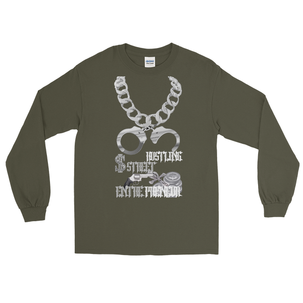 AGSD SILVER STACKIN (LONG SLEEVE) (MENS/WOMANS) APPAREL COLLECTION ( STREET HUSTLING ENTREPRENEUR) 15 COLORS