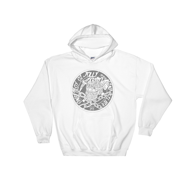 AGSD SILVER COIN STREETWEAR APPAREL JOLLY CRYPTO ( DOUBLE OBVERSE) SIDE #1 ( WHITE)