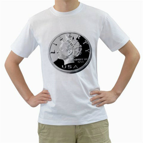 USA souvenirs Liberty Coin Marines Casual Fitness Men T Shirts
