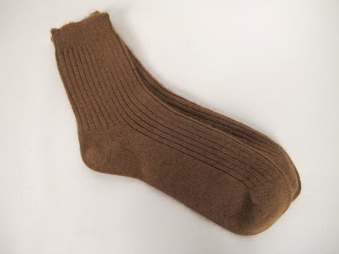 Camel Wool Chunky Winter Socks