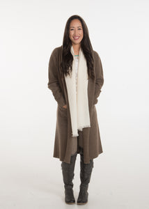Yak Wool Sweater Coat - Acorn