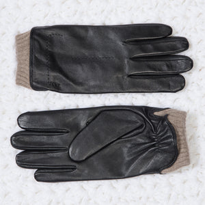 Men's Cashmere-Lined Goat Leather Gloves