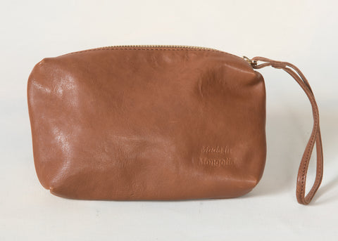 Doe Leather Cosmetic Wristlet