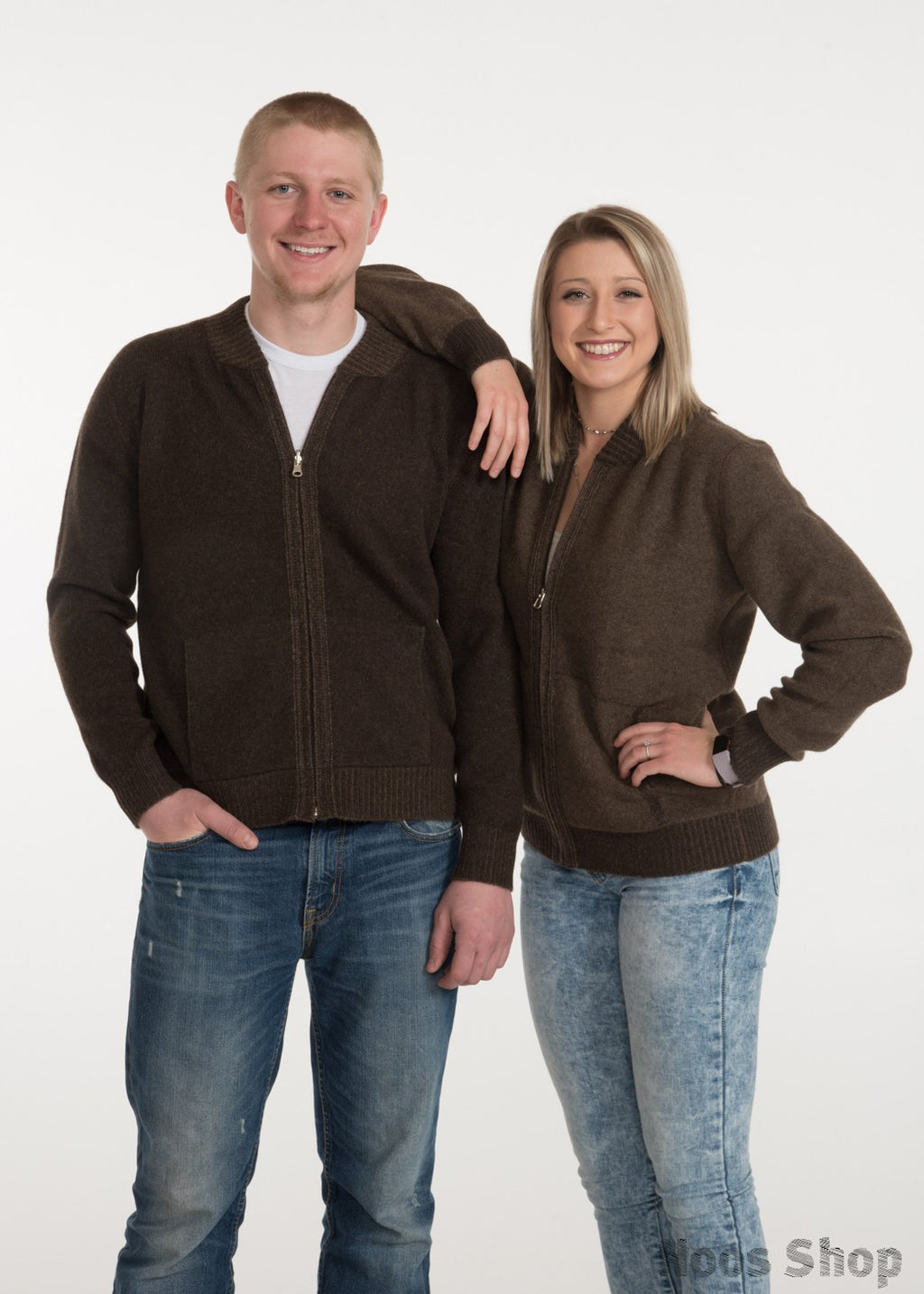 Yak Wool Reversible Bomber Sweater (unisex)