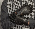 Men's Camel Wool Lined Leather Gloves