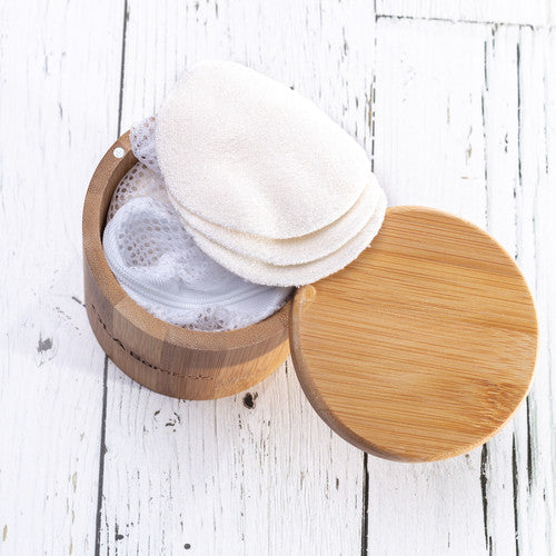 Reusable Make Up Remover Pads + Bamboo box